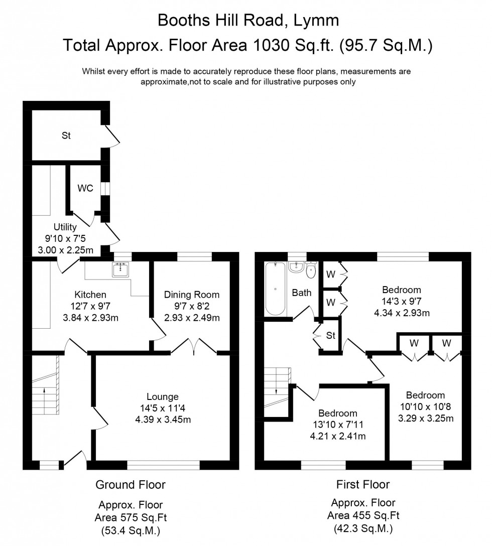 Floorplan for Booths Hill Road, Lymm