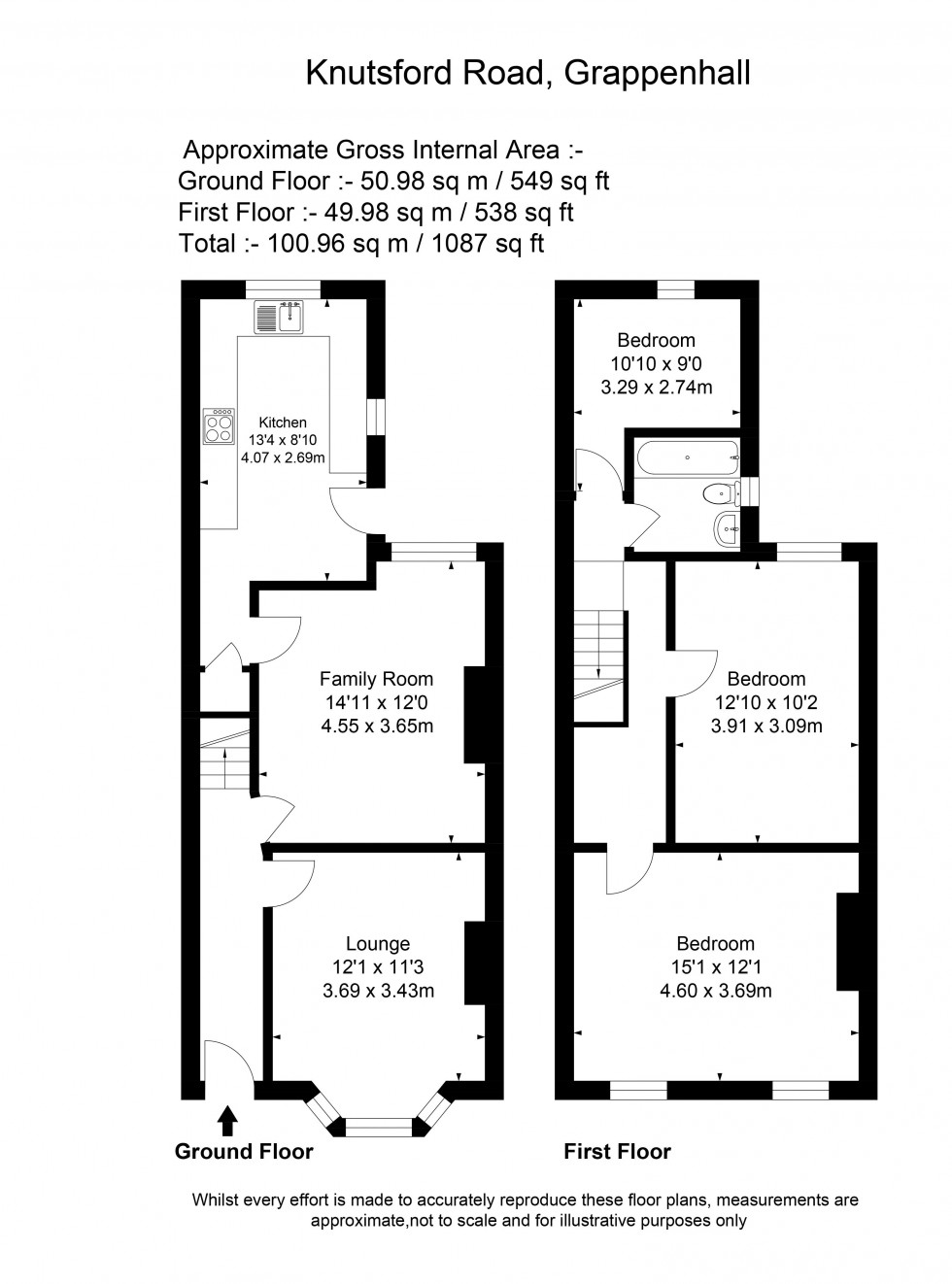 Floorplan for Knutsford Road, Grappenhall