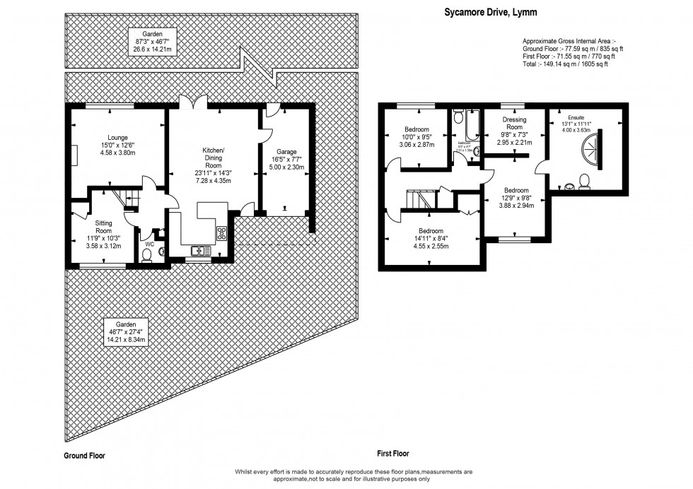 Floorplan for Sycamore Drive, Lymm