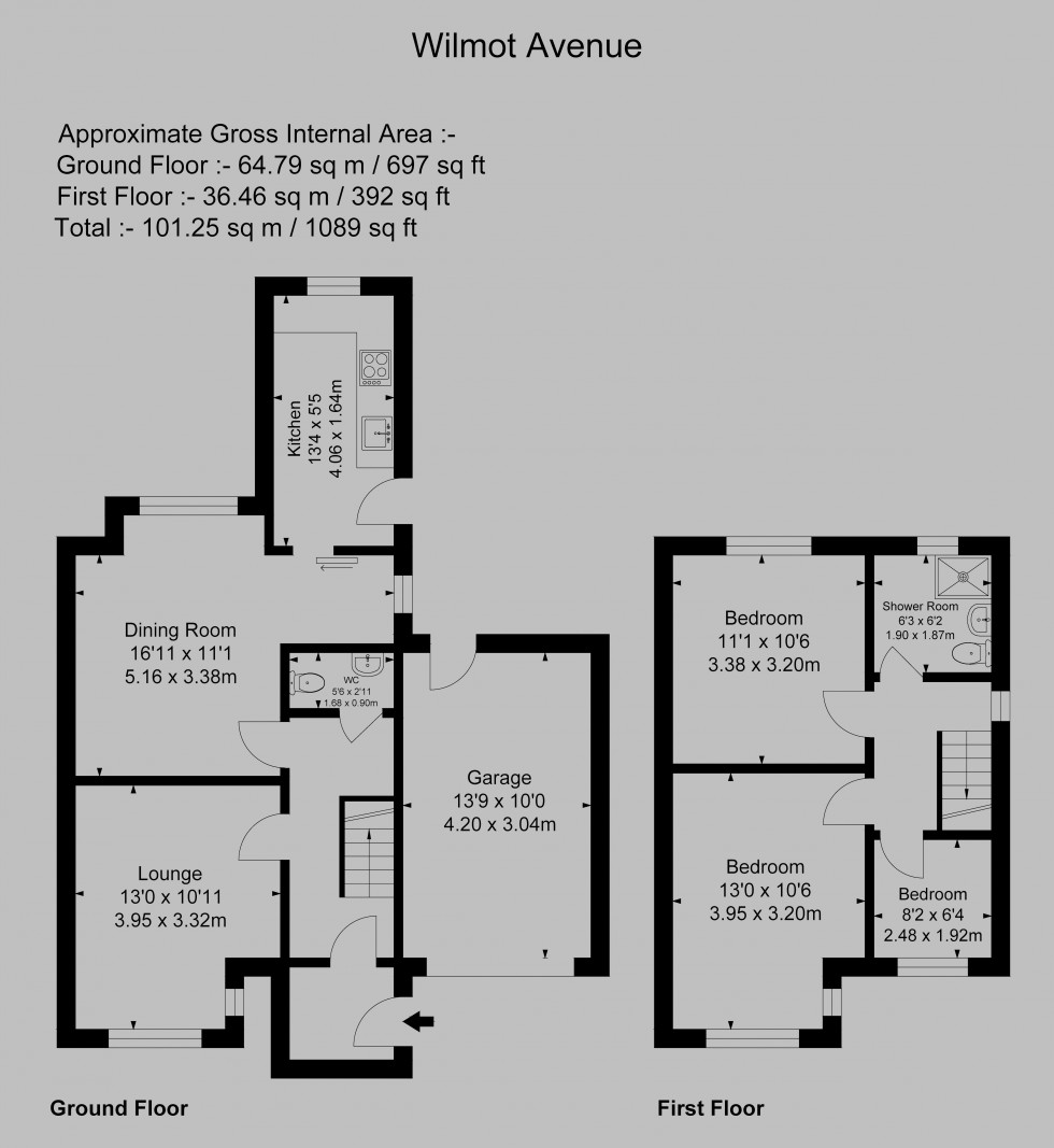 Floorplan for Wilmot Avenue, Warrington