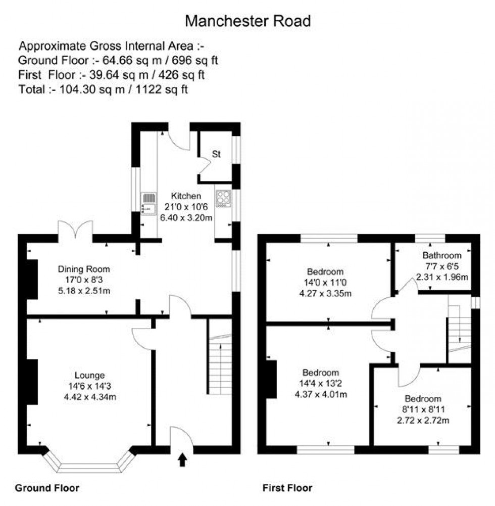 Floorplan for Manchester Road, Padgate