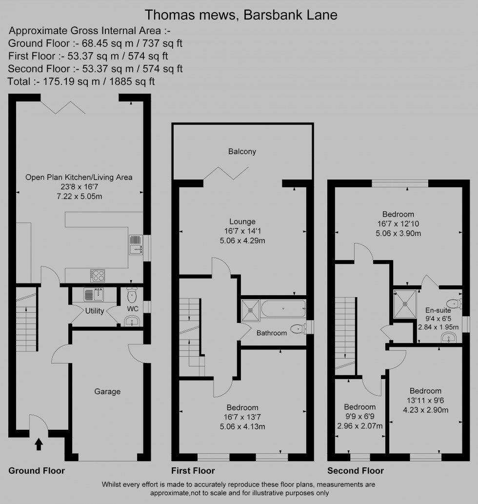 Floorplan for Thomas Mews, Barsbank Lane, Lymm